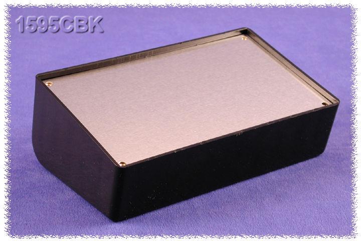 1595EBK - 1595 Series ABS Plastic Console Enclosures with Aluminium Cover Plate