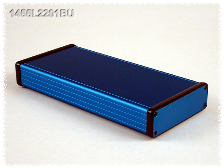1455L2201BU - 1455 Series Extruded Aluminium Enclosures with Aluminium End Panels