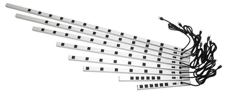 Hammond Mfg. - 20 Amp - Vertical Rack Mount Outlet Strips (1589 ...